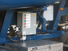 The heart of the Creep Drive system is this CAN Bus panel which controls the hydraulic drive system and communicates with the operator's remote control console.