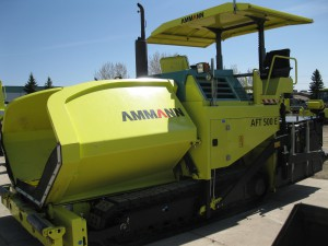 Ammann AFT 500 tracked paver with tamping bar system.