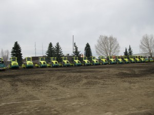 Just some of the Ammann equipment that was ready for the open house.