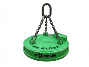 "SENNEBOGEN distributors are now able to supply OEM lifting magnets in sizes from 30"" to 72"" and matched to the customer's application."