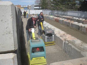 Peter Price runs a walk behind compaction unit in a head-to-head test.