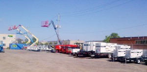 SMS Rents stocks a full range of equipment in their new 2 acre Toronto store.