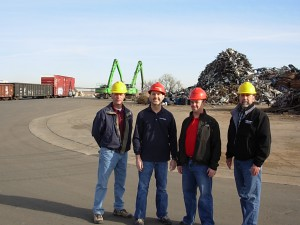 (From L to R:) Don Harrison, Rasmussen Equipment, Mark Bond, Metro Group, Dan Floyd, Metro Group, Randy Gallegos, Rasmussen Equipment