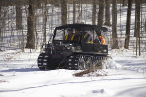 This Argo makes its own trail in the snow regardless of how deep it gets.