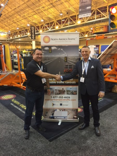 Star Smith - L and Peter Vieveen at North America Traffic's booth at ATSSA