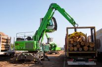 Sawmill Turns To SENNEBOGEN For Timber Handling Technology