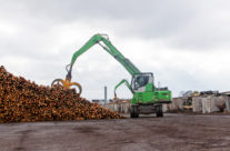 Two SENNEBOGEN Log Handlers Double Down On Green Performance